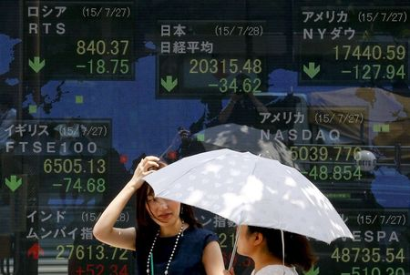 Asian Stocks Down, Taking a Rest from Record-Breaking Month
