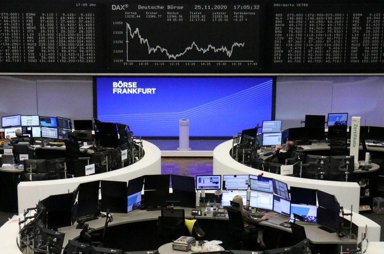 European shares slip on U.S.-China worries; FTSE 100 rises
