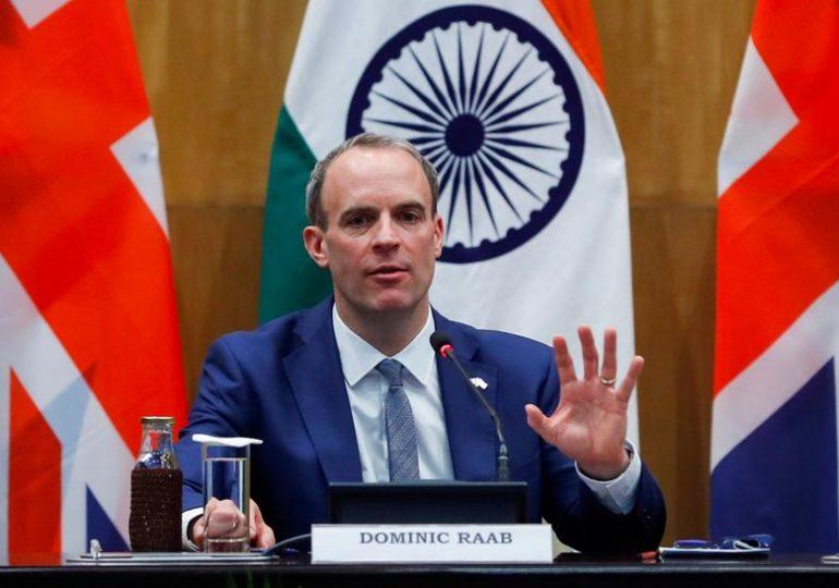 UK's Raab says pursuing trade deals with Australia, U.S., Indo-Pacific region