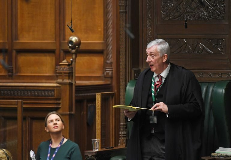 UK House of Commons Speaker says post-Brexit trade deal has been granted royal assent by queen - PA Media