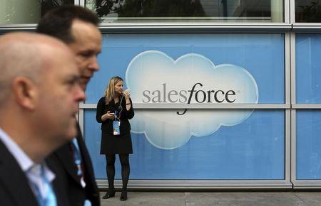 Salesforce, Tesla Fall Premarket; Pfizer Gains
