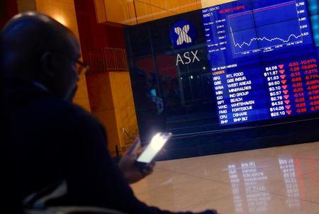 Australia stocks lower at close of trade; S&P/ASX 200 down 0.87%