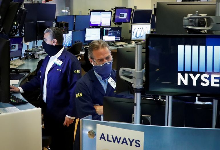 S&P 500, Dow end up for 3rd day as Alphabet jumps, volatility eases