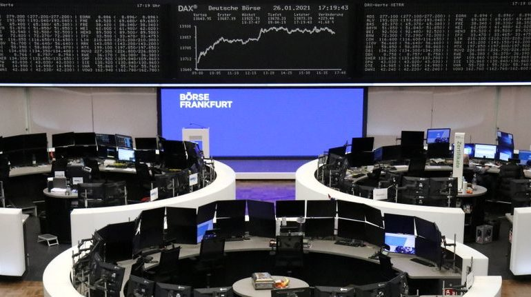 European shares pause after three-day rally