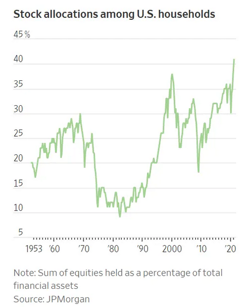 Stock Allocations Among US Households