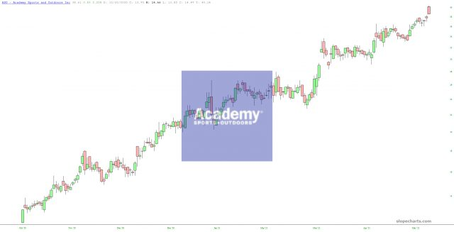Academy Sports Outdoors Chart.